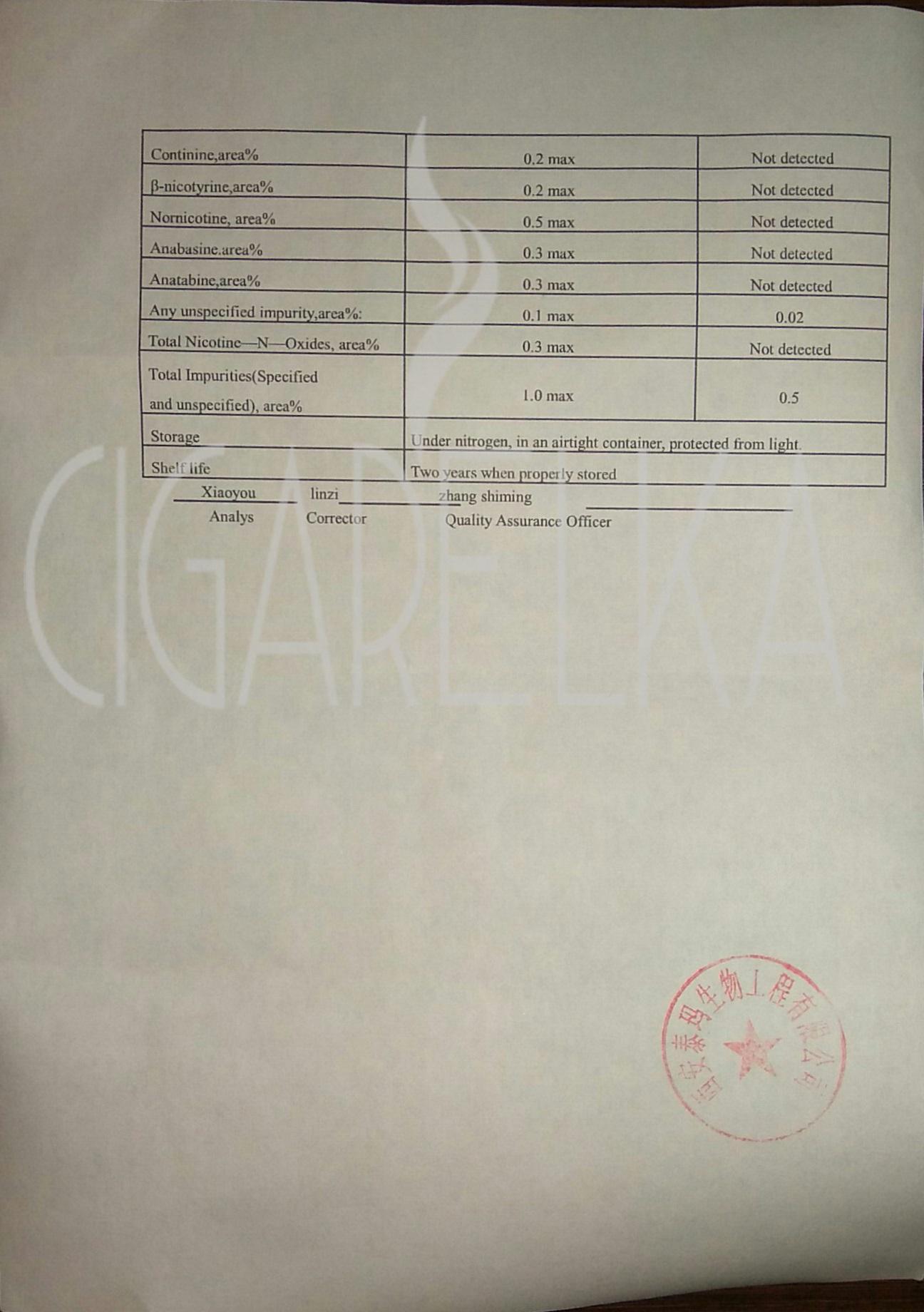 сертификат на ароматизатор ксиан